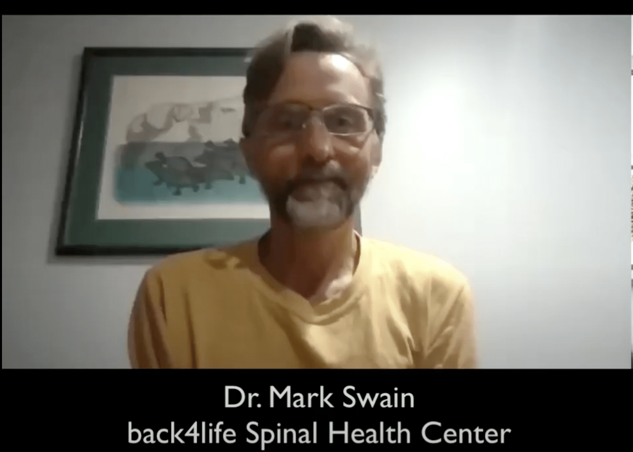 North Bay Chiropractor Dr. Mark Swain from back4life Spinal Health Center